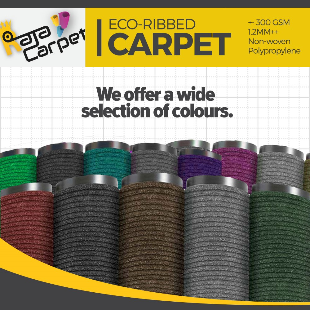 Eco Ribbed Carpet Karpet  Tikar Lantai per sqft