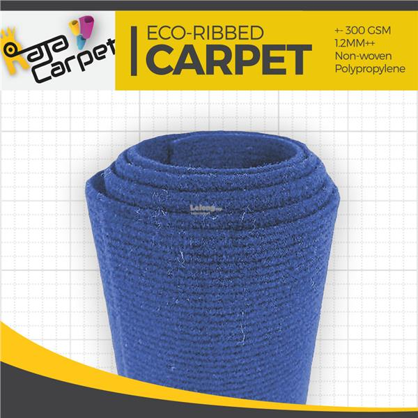 Eco Ribbed Expo Carpet D.Blue  Office/Event/Home 1 Roll FREE DELIVERY