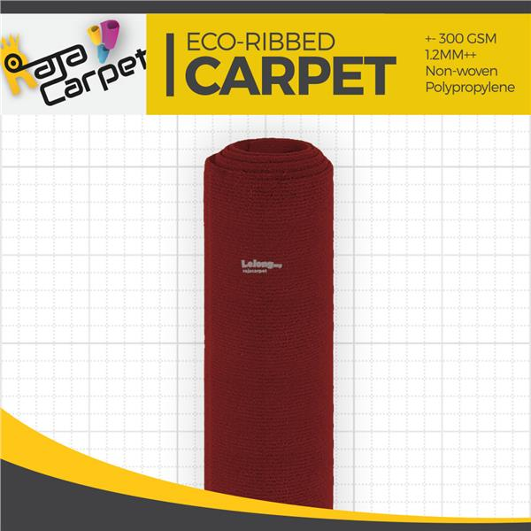 Eco Ribbed Expo Carpet Maroon Office/Event/Home 1 Roll FREE DELIVERY