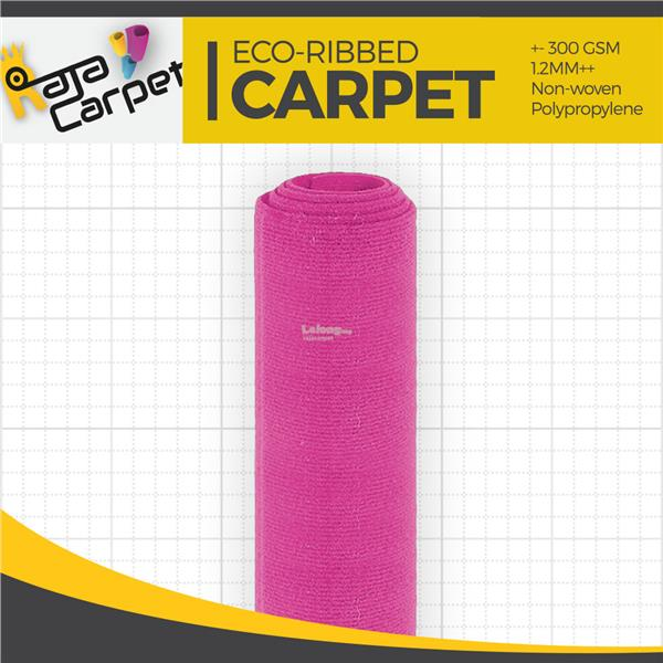 Eco Ribbed Expo Carpet Pink Office/Event/Home 1 Roll FREE DELIVERY