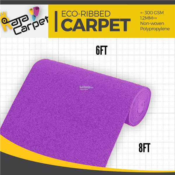 Eco Ribbed Expo Carpet Purple Office/Event/Home 1 Roll FREE DELIVERY