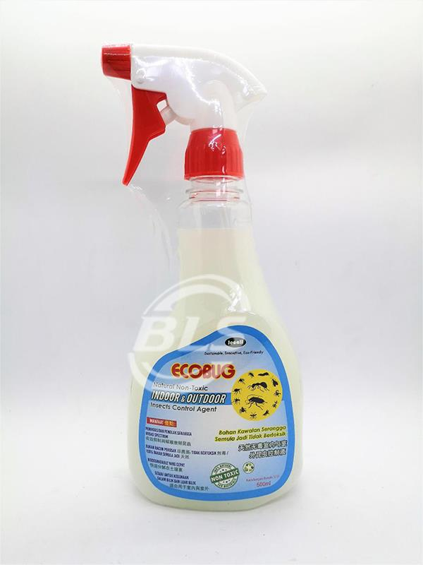 ECOBUG 500ML NATURAL NON TOXIC INDOOR OUTDOOR INSECTS CONTROL AGENT