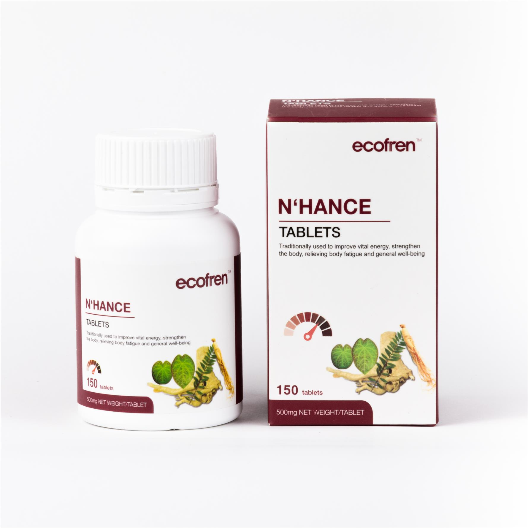 Ecofren N'hance Tablet 150's for Men, Extra Strength & Endurance