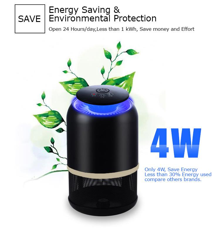 NEW EcoFriendly Mosquito Killer Photocatalyst UV LED Lamp Air Purifier