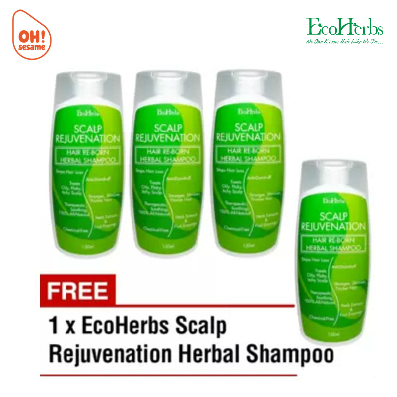 EcoHerbs Scalp Rejuvenation Hair Re-Born Herbal Shampoo (B3F1)