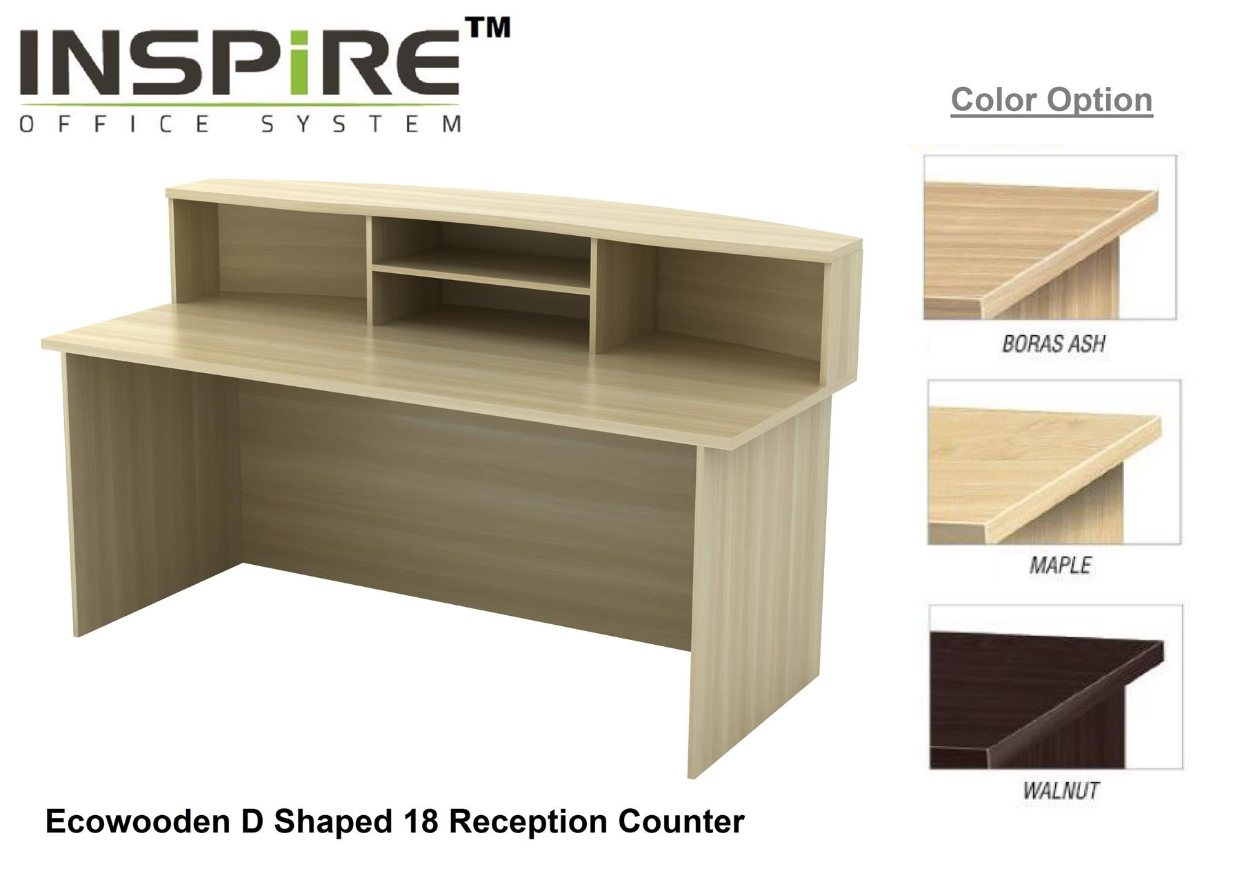 Ecowooden D Shaped 18 Reception Counter