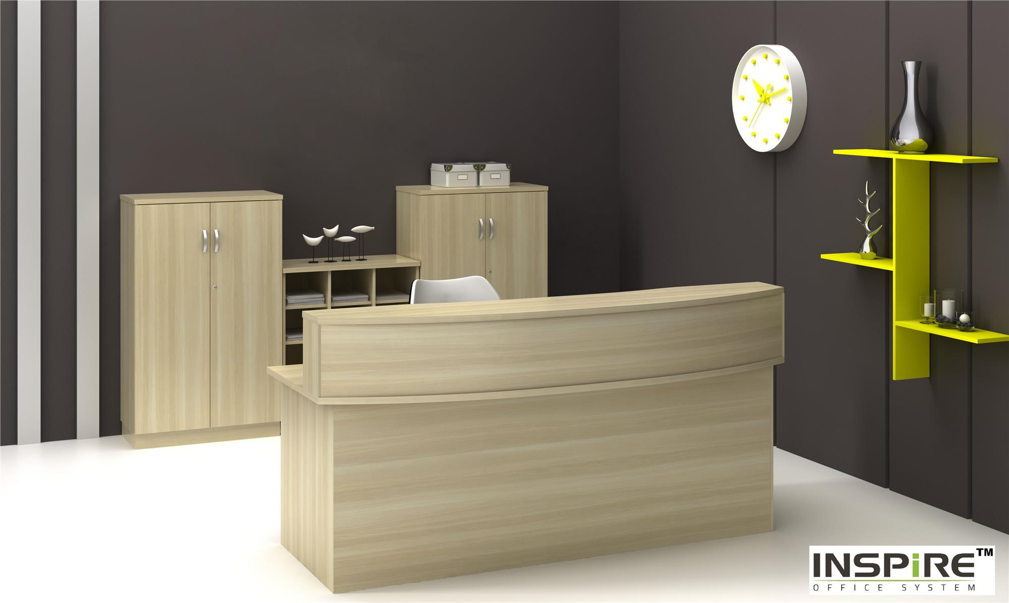 Ecowooden D Shaped 21 Reception Counter
