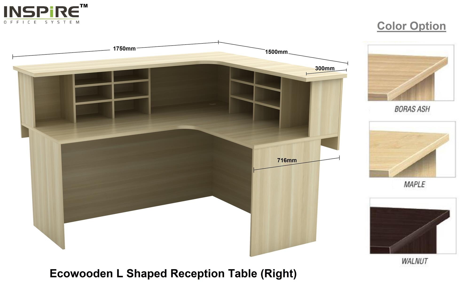 Ecowooden L Shaped Reception Counter