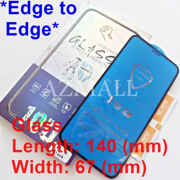 (Edge to Edge) 10D Full Cover Tempered Glass Apple iPhone XS X (5.8)