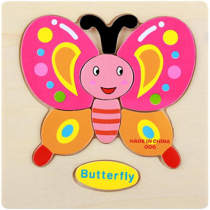 Educational Cartoon 3D Wood Puzzle (Butterfly)