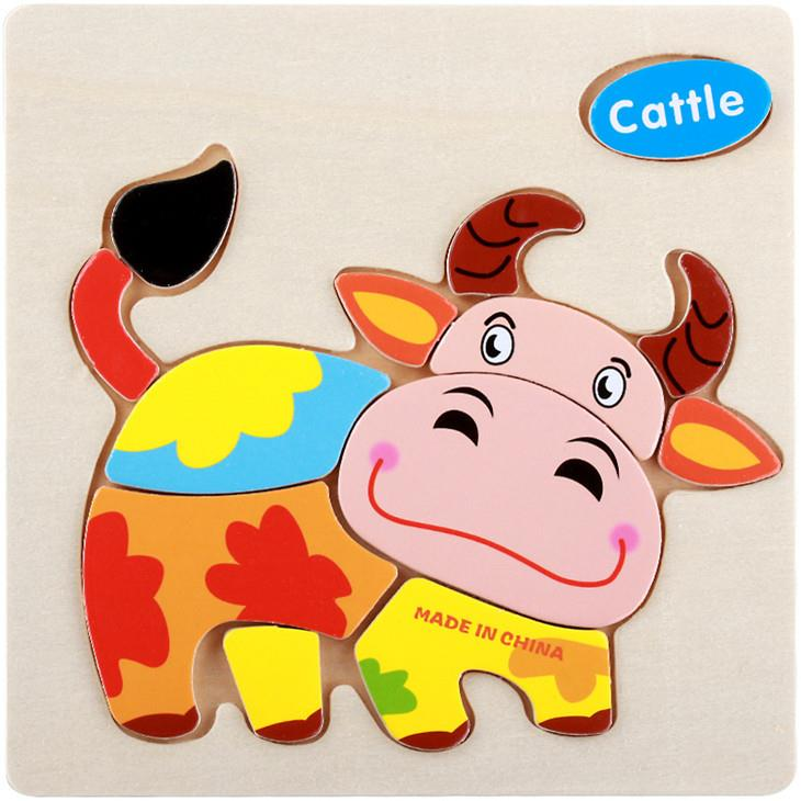 Educational Cartoon 3D Wood Puzzle (Cattle)