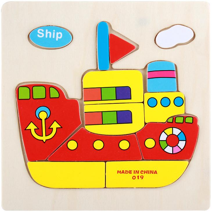 Educational Cartoon 3D Wood Puzzle (Ship)
