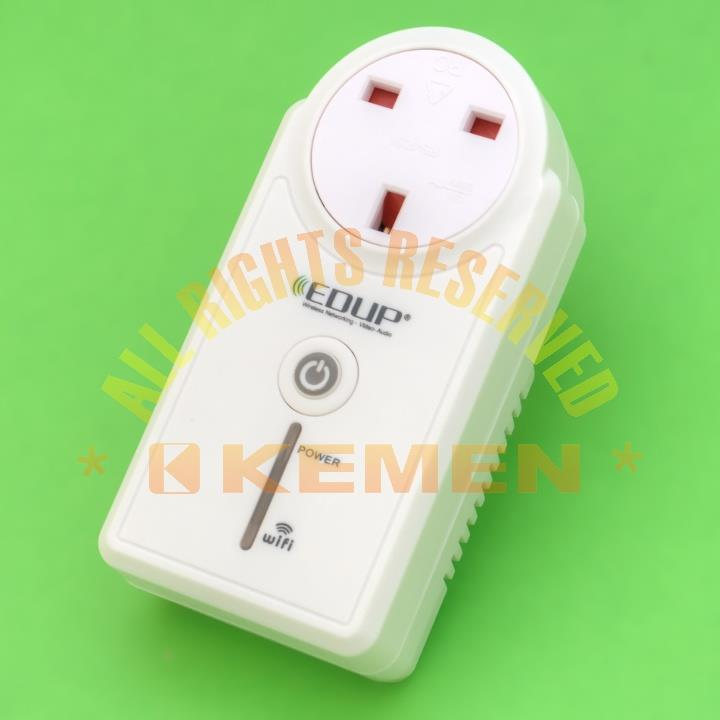 EDUP WiFi Power Socket UK 3-Pin Remote Control internet iOS Android