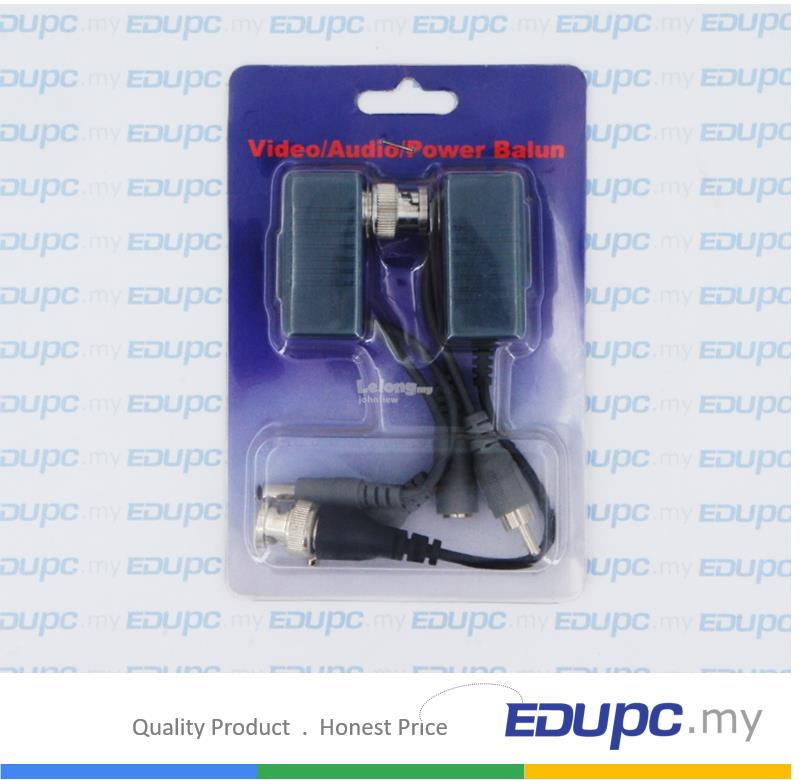 EDUPC my CCTV Transceivers CAT5 Balun RJ45 Video/ Audio/ Power Balun