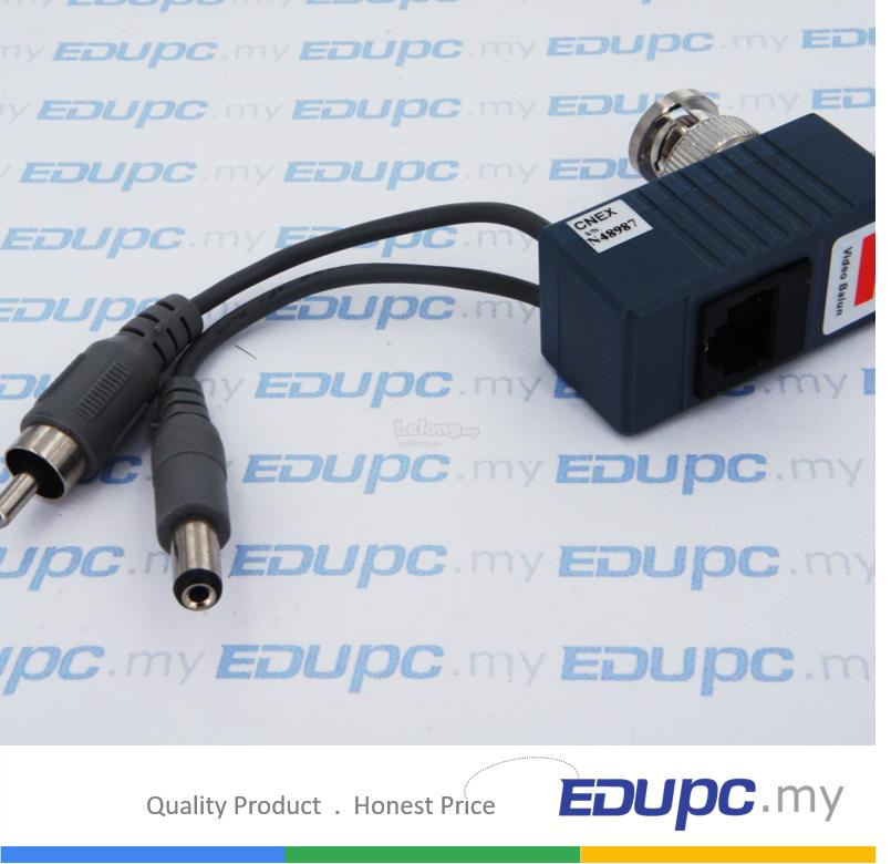EDUPC my CCTV Transceivers CAT5 Balun RJ45 Video/ Audio/ Power Balun