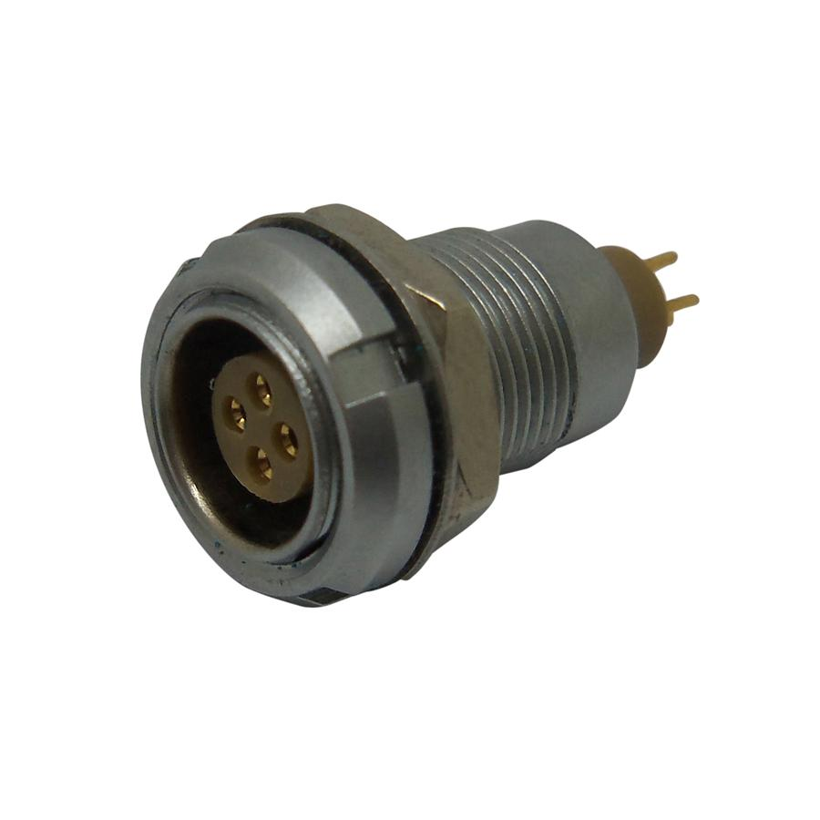 EGG.0B.304.CLL Lemo 0B series straight fixed 4 pins socket