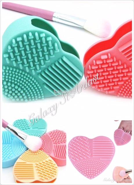 Egg / Heart Shaped Cosmetic Make Up Brush Washing Cleansing Glove Tool