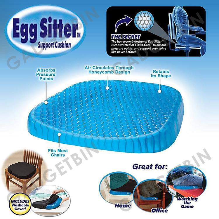 Egg Sitter Cooling Grid Mesh Gel Pad Gel Support Seat Cushion