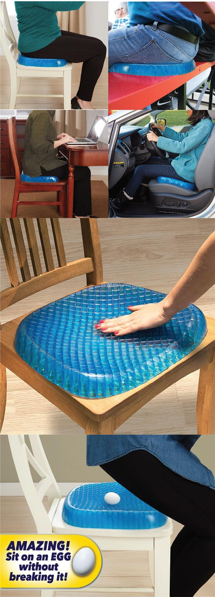 Egg Sitter Support Cushion Gel Seat Breathable Non-Slip Pain Relief