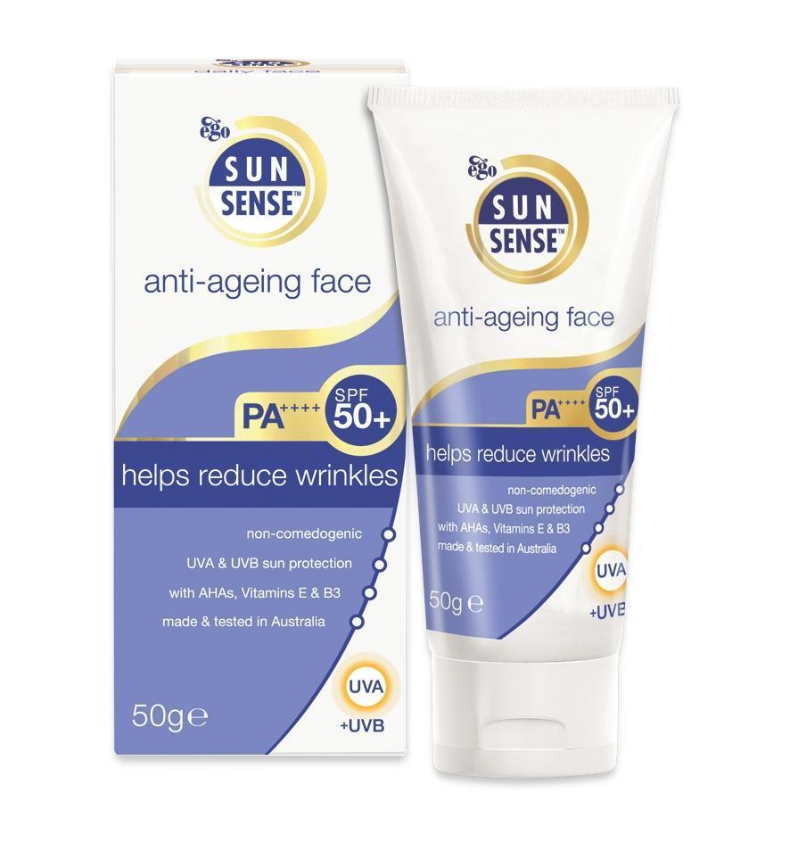 Ego SunSense SPF 50 Anti-Ageing Face Sunblock 50g