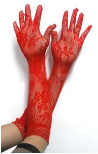 [EH1769-14582R] Sexy Net Type Gloves (Red)