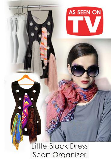 [EH263-15855] Hanging Scarf Organizer ~As Seen On TV~
