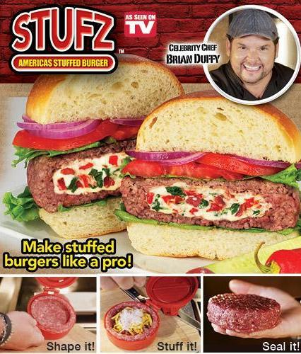 [EH354-15999] STUFZ Burger Press ~As Seen On TV~