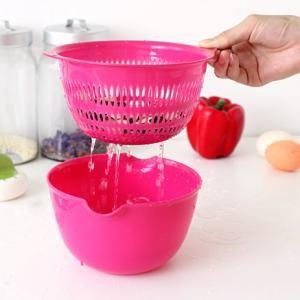 [EH599-16757] Creative Double Layer Basket & Dripping Basket