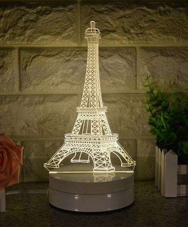 The Eiffel Tower 3D LED Night Light