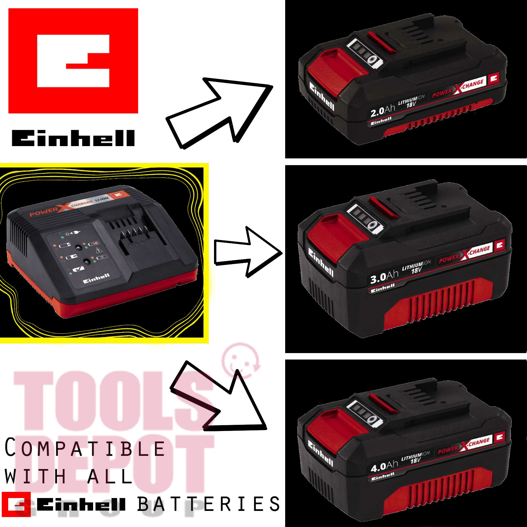 einhell power-x-change 18v 4,0 ah b (end 3/28/2021 12:00 am)