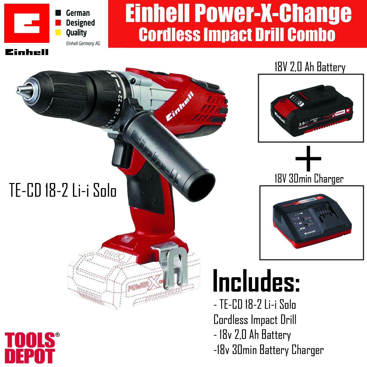 einhell power x-change impact drill (end 2/21/2021 12:00 am)