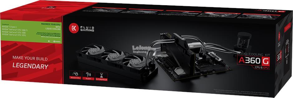 # EK Fluid Gaming A360G - CPU + GPU Liquid Cooling Kit #