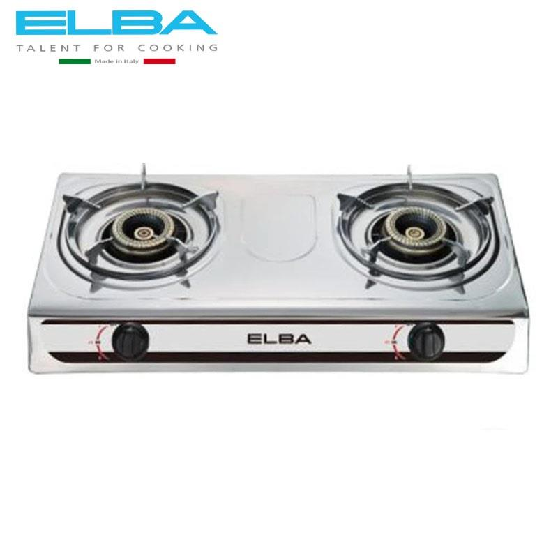 Elba 2 Burner Gas Stove Br Ring Egs F7192 Ss