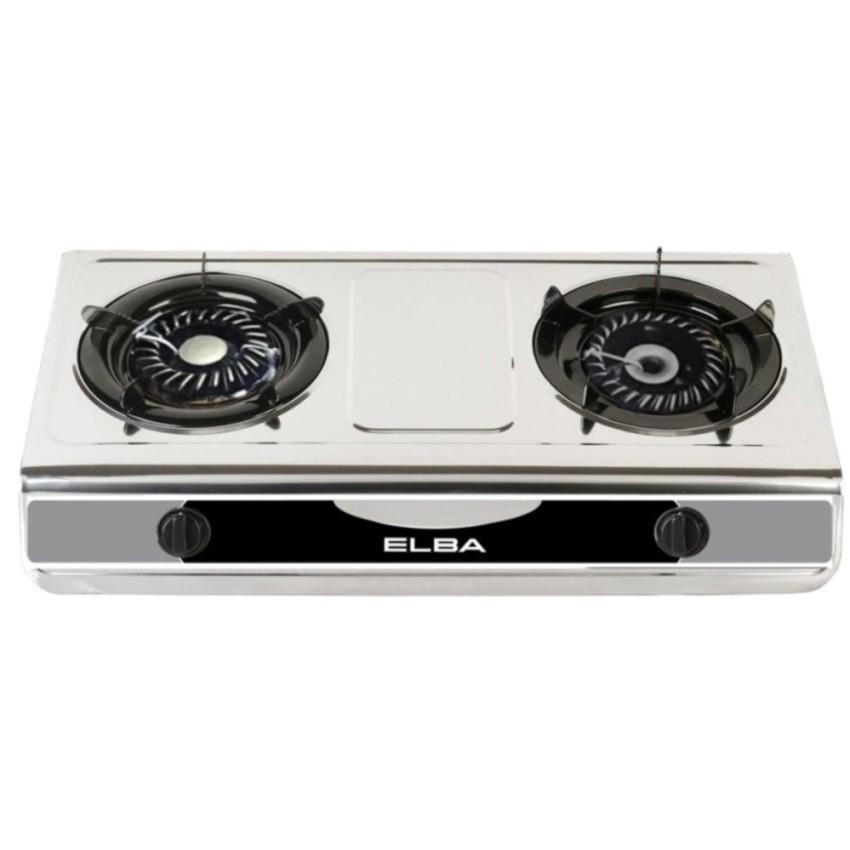 Elba 2 Burner Gas Stove Stainless Steel Egs F7112 Ss