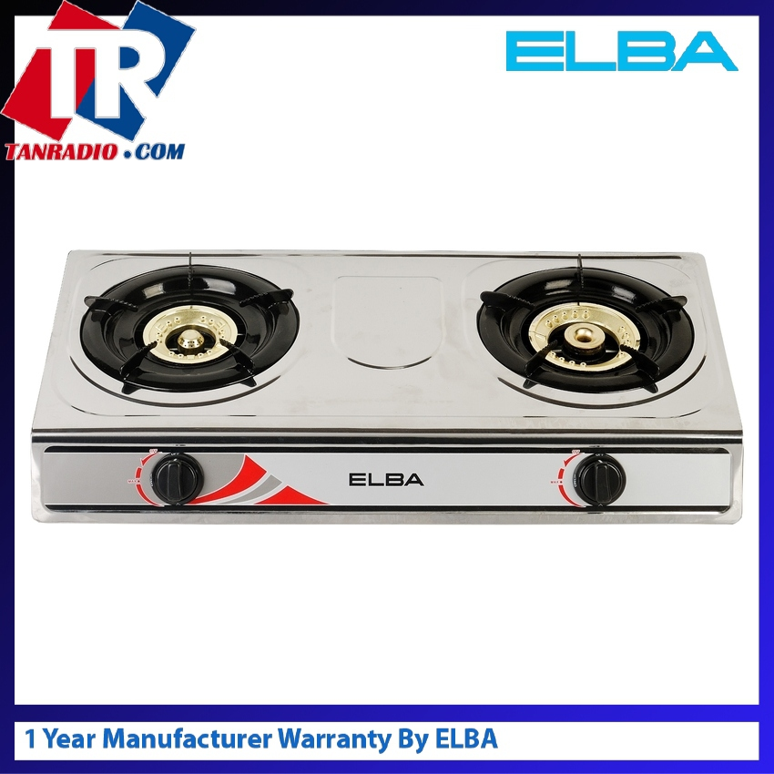Elba 5260 5240ss Gas Stove 2 Burners Silver