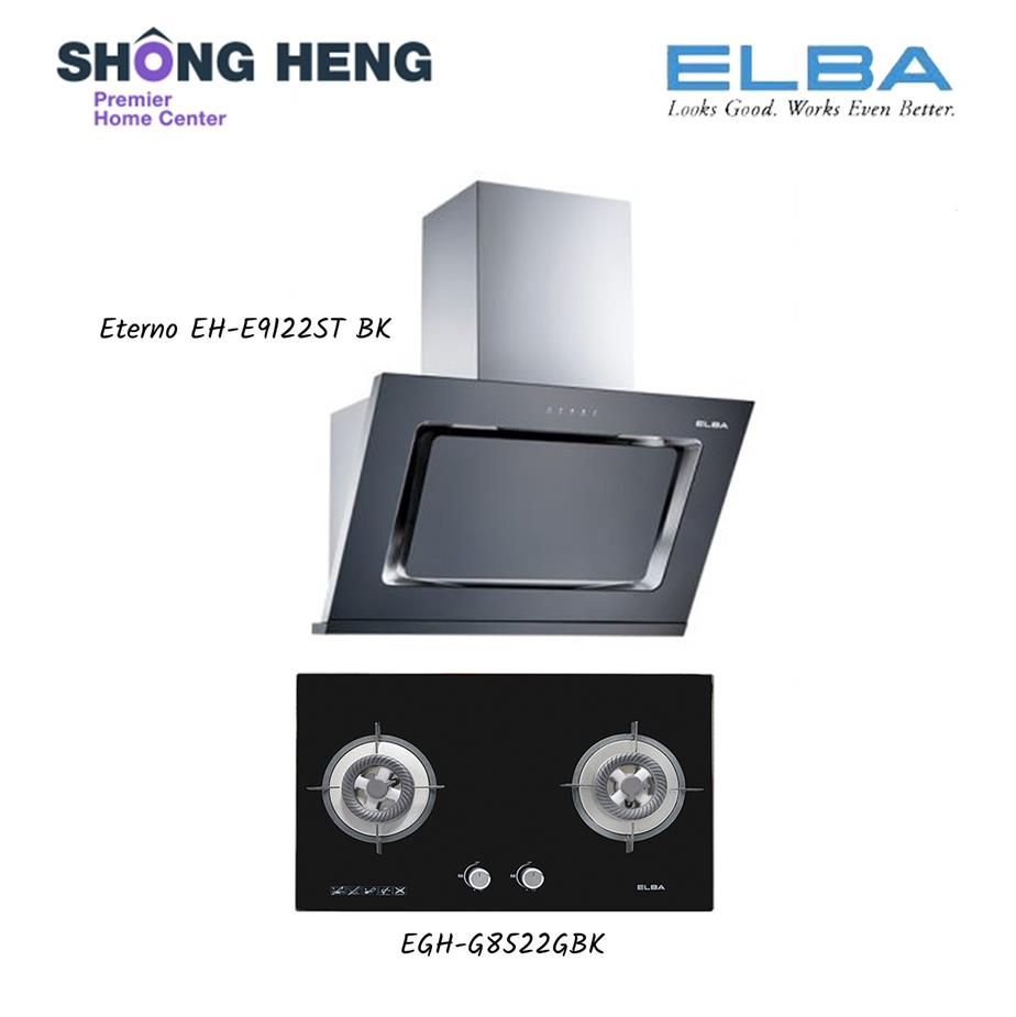 Elba Hood Hob Package Eterno Eh E9122st Bk Egh E8522g
