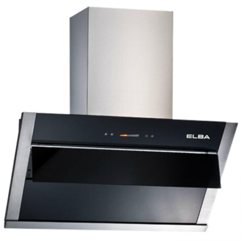 Elba Kitchen Chimney Designer Hood 1400m3 Vetrinoled Lamp 2 X 2w Black E