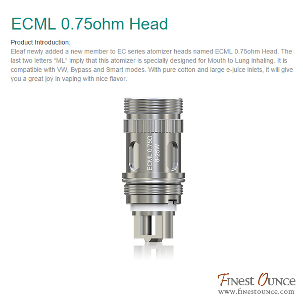 Eleaf EC Replacement Coil Head OCC 5pc (iJust Melo Lemo Pico Atlantis)