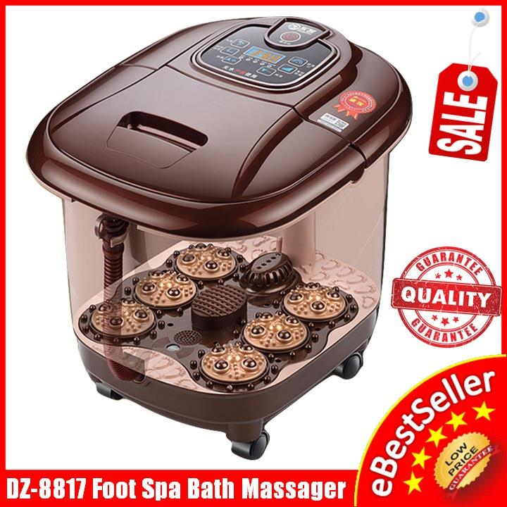 Electric Auto Foot Spa Bath Massager Bubble Infrared Heat +LED Display
