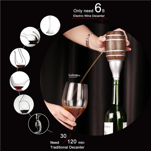 Electric Auto Red Wine Decanter Pump Aerating Aerator Pourer Dispenser