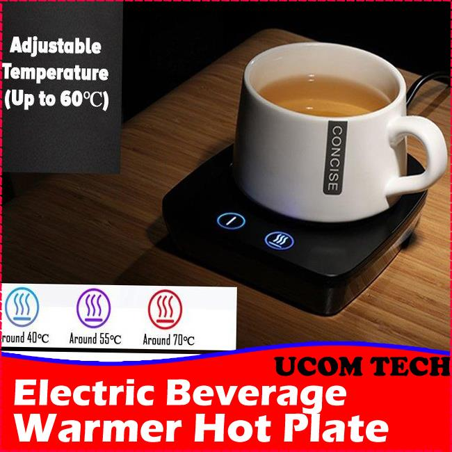 Electric Beverage Warmer Plate with Adjustable Temperature Up To 60C