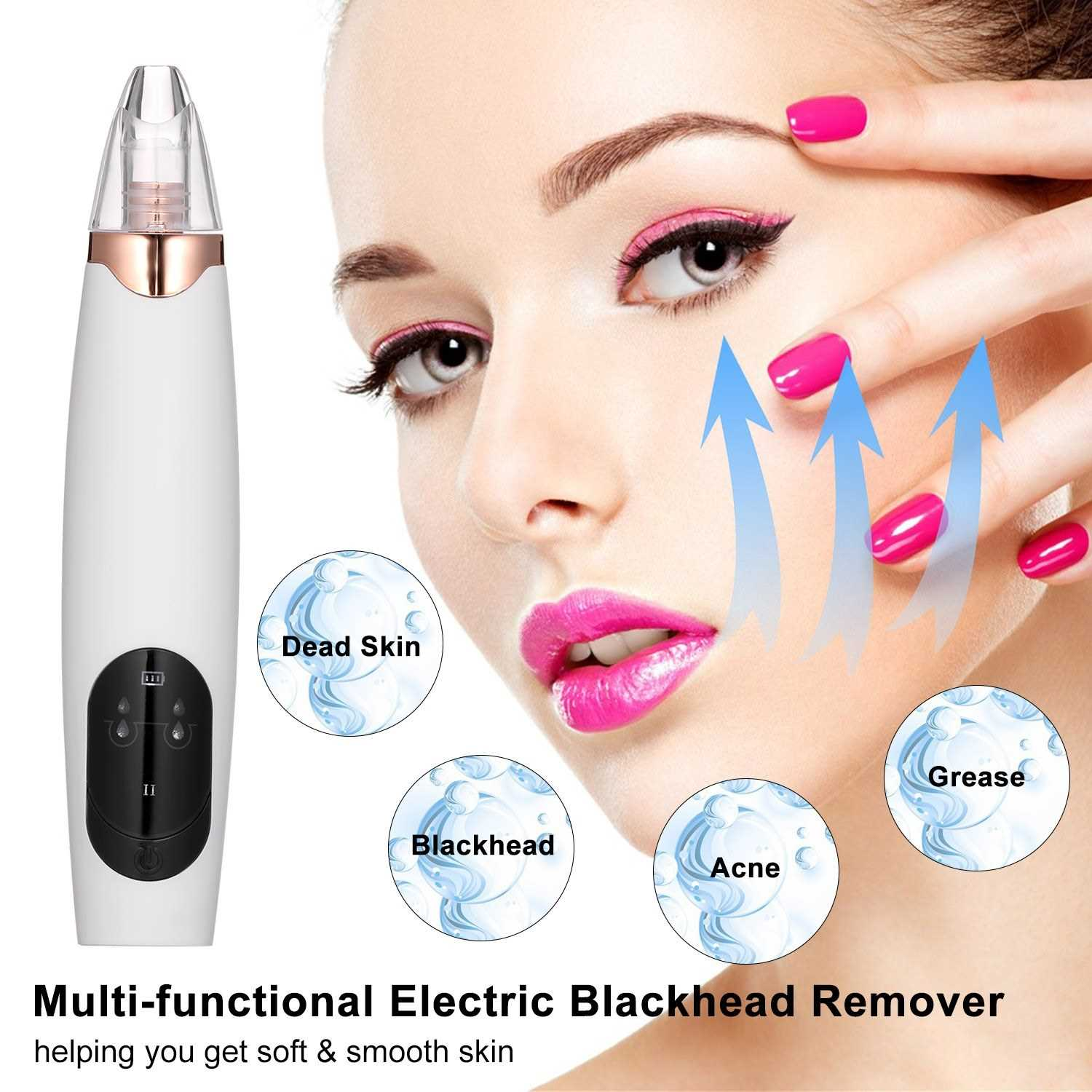 Electric Blackhead Remover Facial Pore Cleanser USB Rechargeable