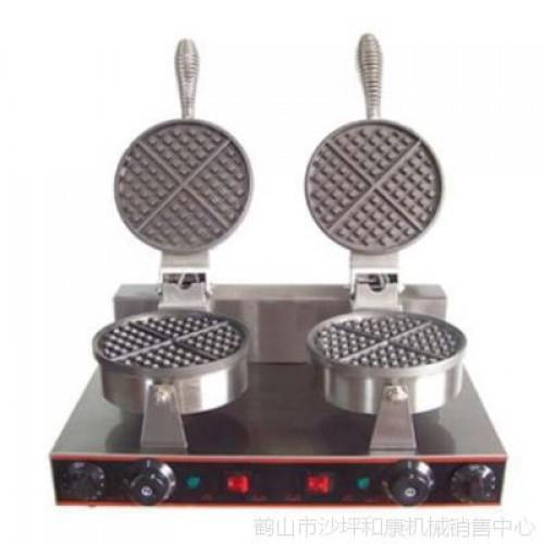 Electric Commercial Nonstick Waffle Machine Mesin Double Waffle Machin