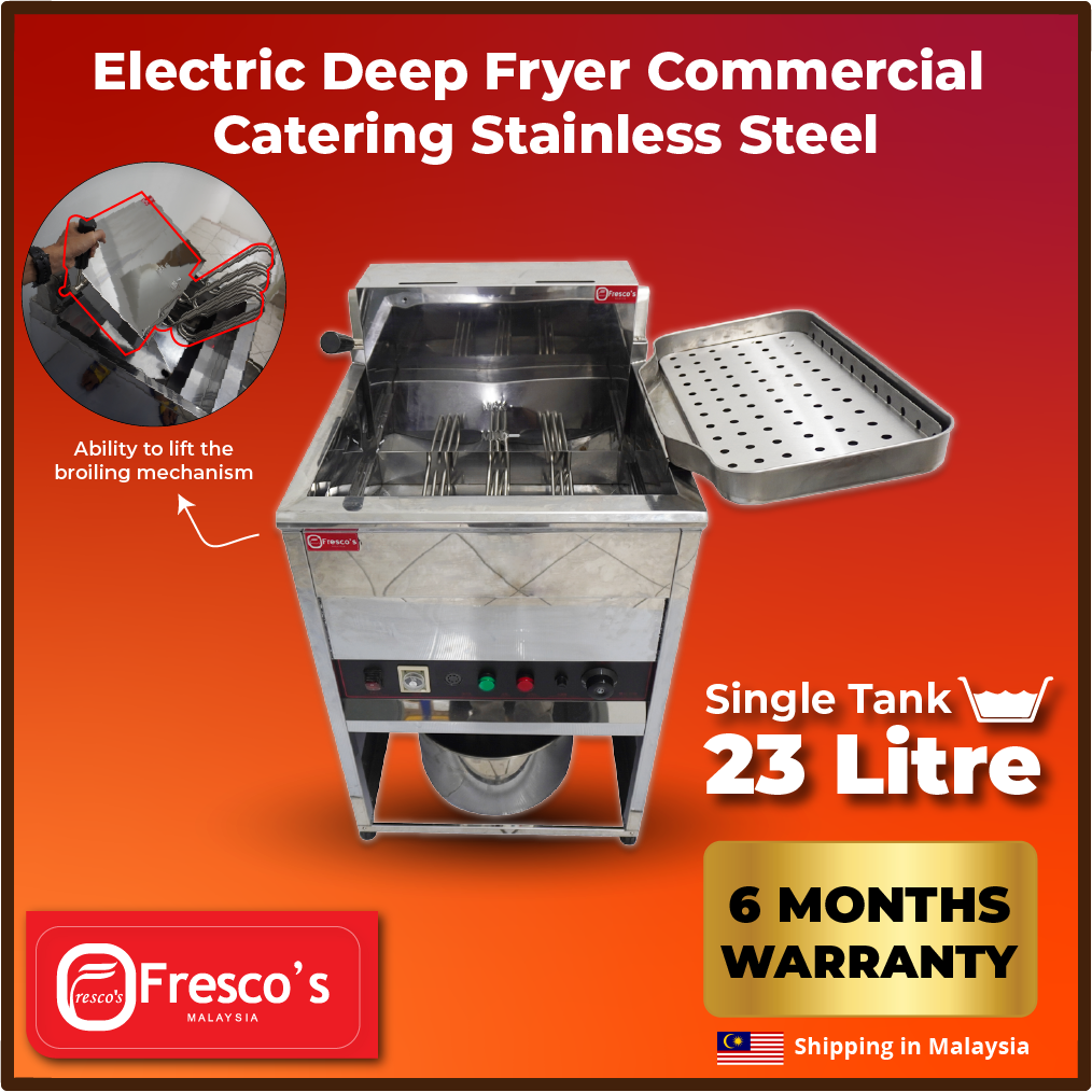 Electric Deep Fryer Commercial Catering Stainless Steel