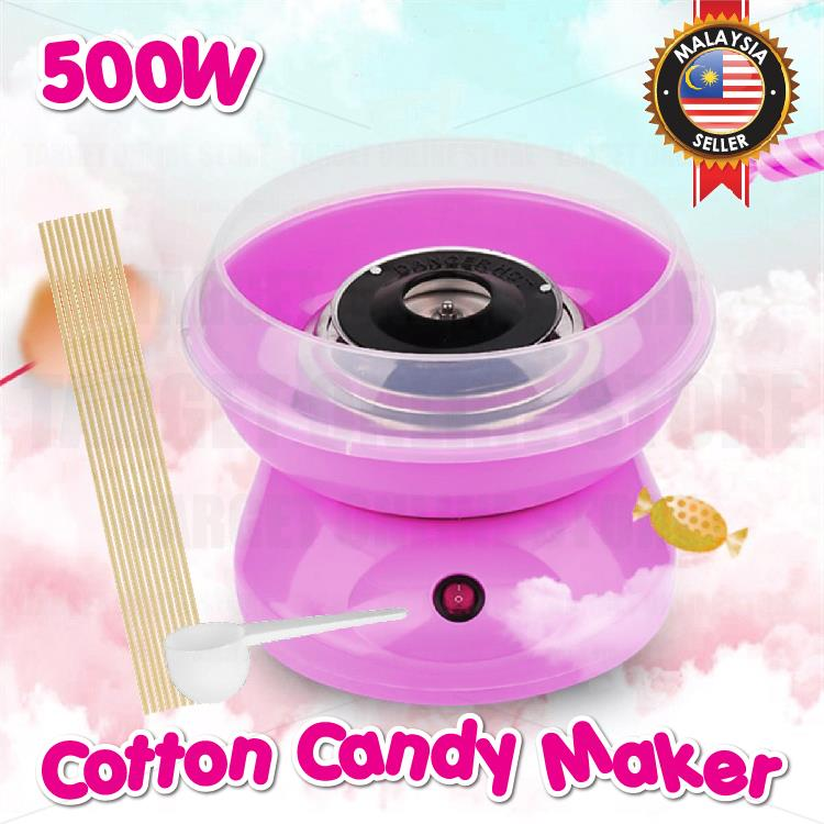 Electric DIY Cotton Candy Maker Sweet Candy Floss Sugar Machine 500W