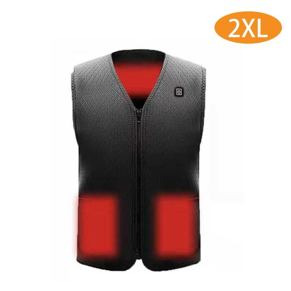 Electric Heated Vest Temperature Adjustable Winter Warm USB Heating