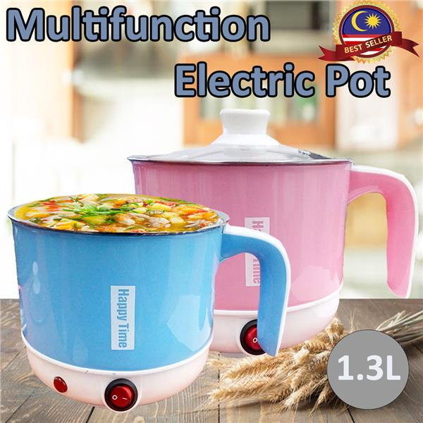 Electric Multi Cooker Pot Stainless Steel Happy Time Home Kitchen 1.3L