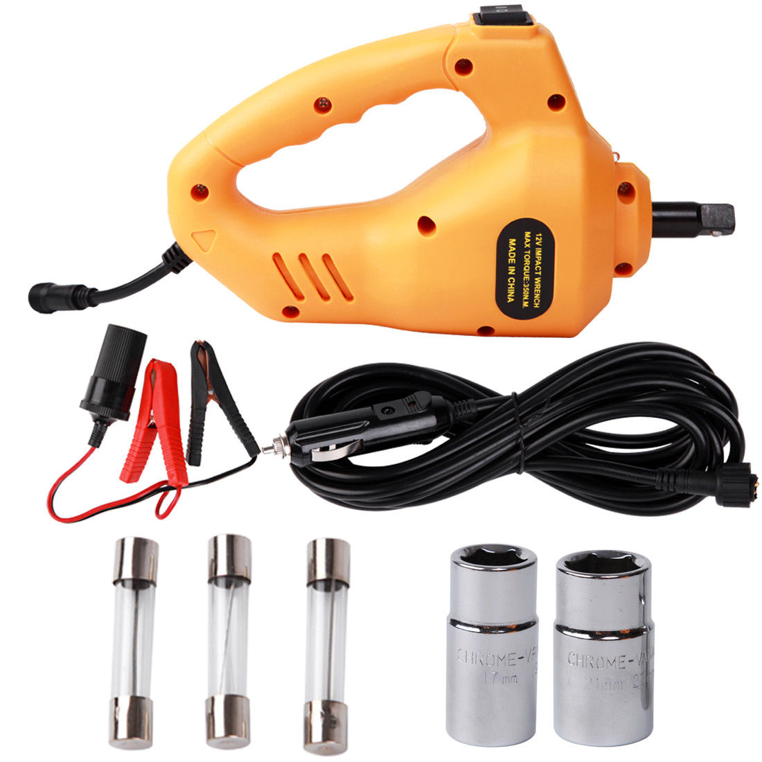 Electric Power Impact Wrench Automotive Kit Air Car Repair Tool