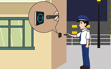 Electric Security Guard Tour Patrol System Guard Clocking Control