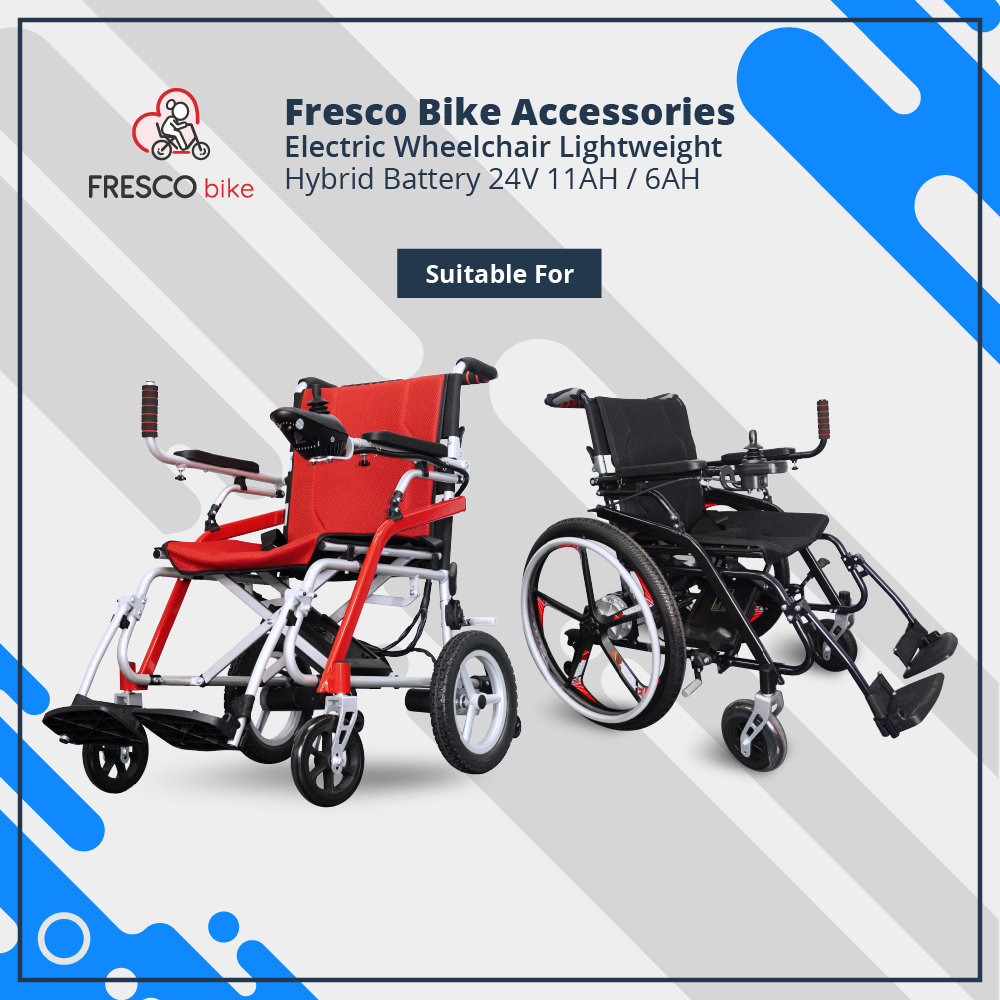 Electric Wheelchair Lightweight 24V 6AH (Airline Approved)